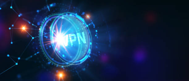 Business, Technology, Internet and network concept. VPN network security internet privacy encryption concept. stock photo