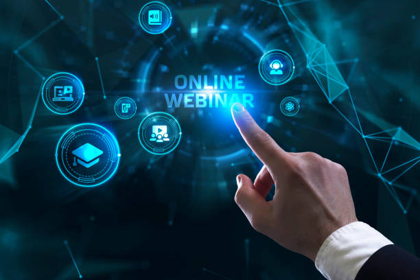 Business, Technology, Internet and network concept. Webinar e-learning. Training concept. stock photo