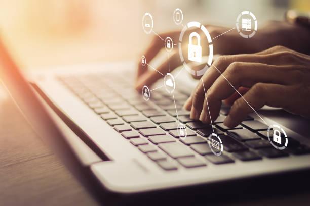 concetto di business, tecnologia, internet e networking. - protezione foto e immagini stock