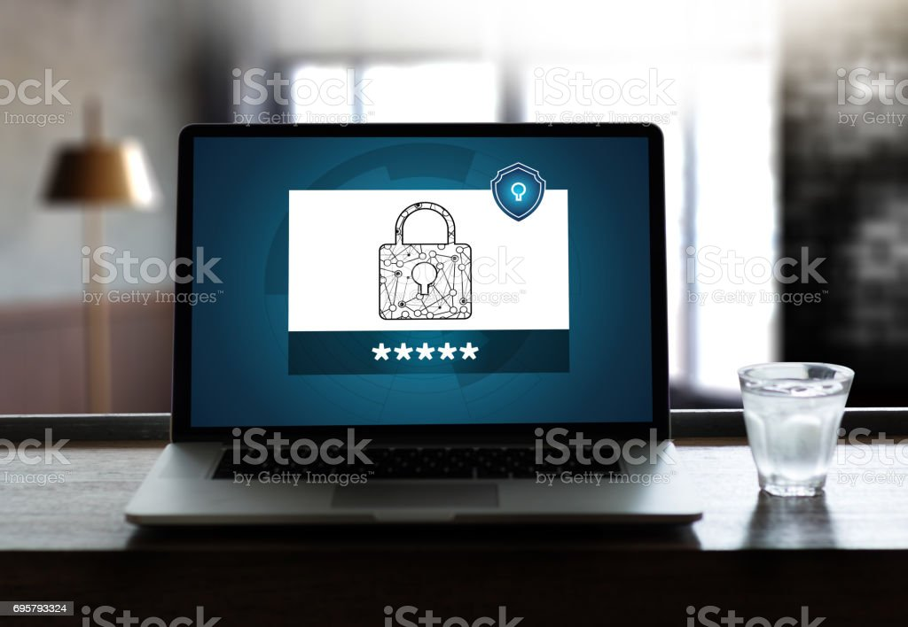 CYBER SECURITY Business, technology,Firewall Antivirus Alert Protection Security and Cyber stock photo