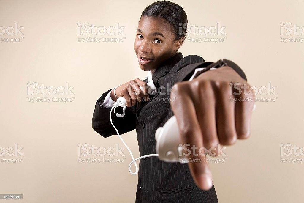 Business Teen Punch Out stock photo