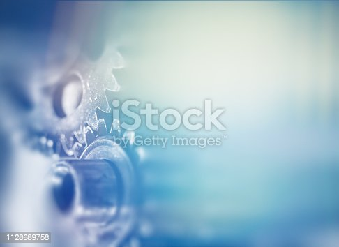 business template with blue gears