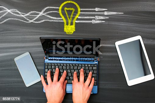 istock Business Thinking about structuring business process and solutions 653813774