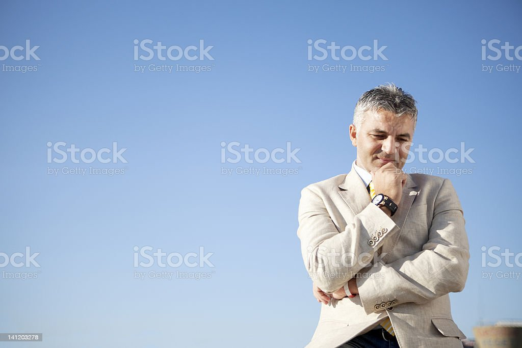 business thinking royalty-free stock photo