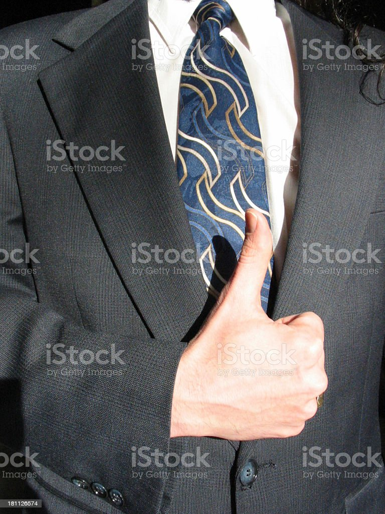 Business - Thumbs Up royalty-free stock photo