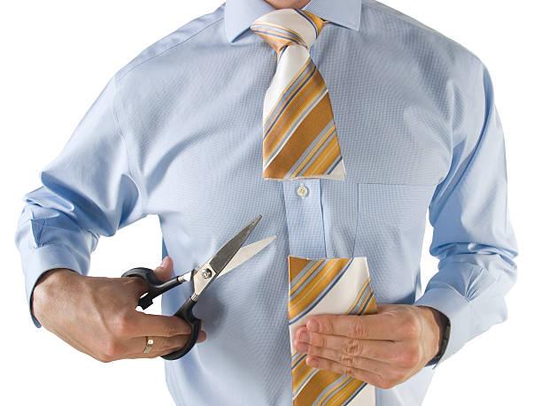 krawatte abschneiden