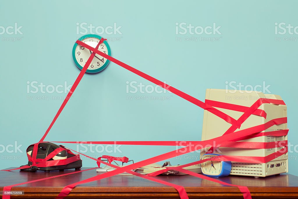Business Tied in Red Tape royalty-free stock photo