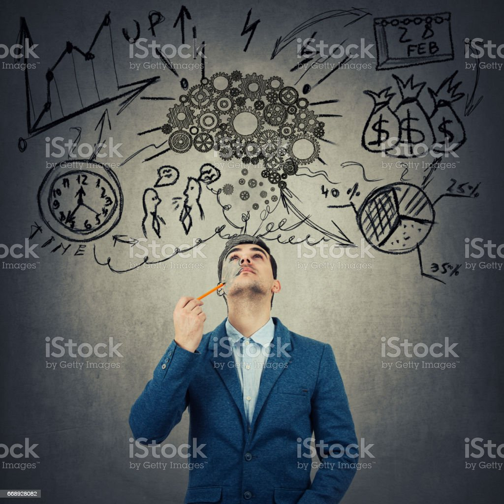 Business time and idea concept stock photo