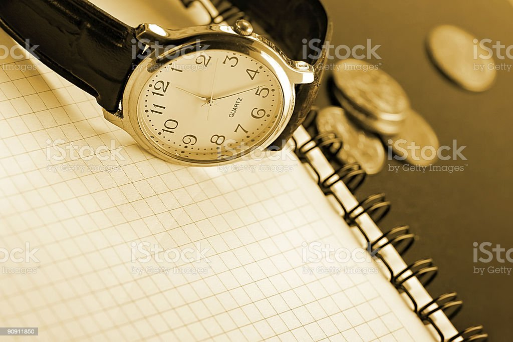 Business time background royalty-free stock photo