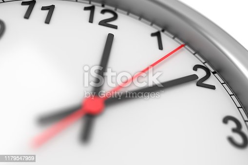 Business time. Wall clock. 3d illustration
