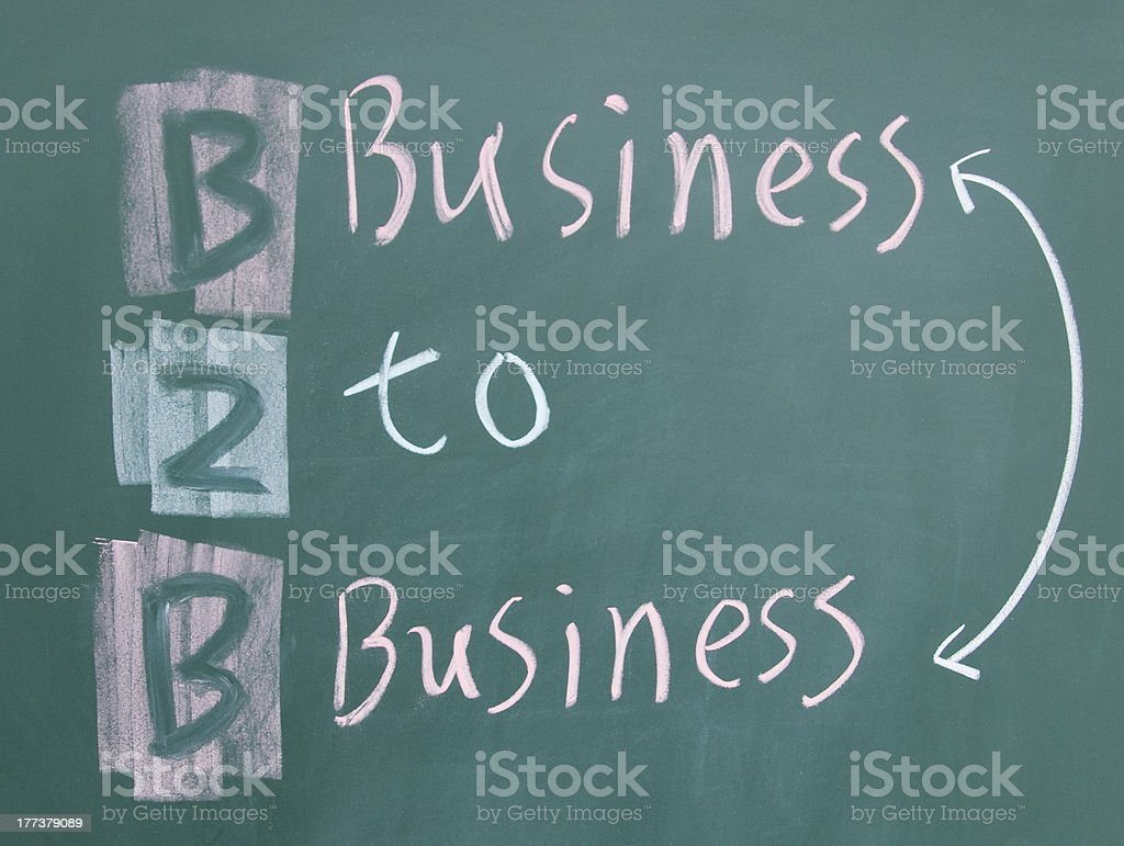 business to b symbol stock photo