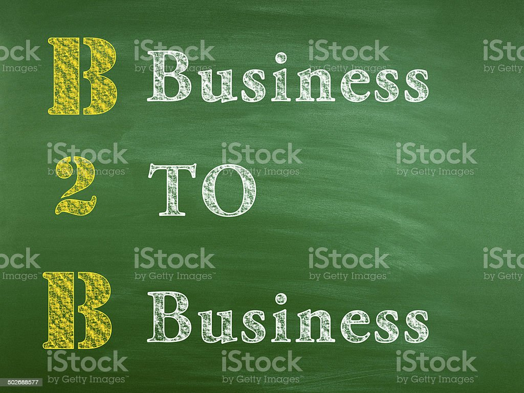 Business to Business (Click for more) royalty-free stock photo