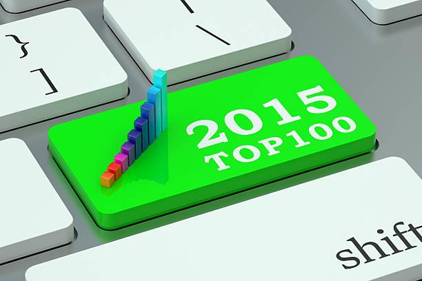 Negocios 100 mejores 2015 concepto en el teclado - foto de stock
