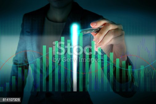 875531516istockphoto Business touch the highest graph 514107325