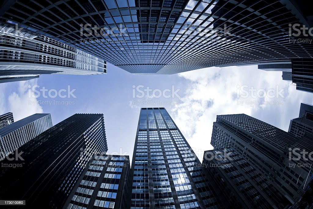 Business tower in NYC royalty-free stock photo