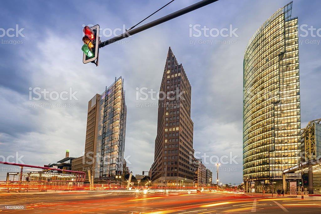 Business Towers in Berlin royalty-free stock photo