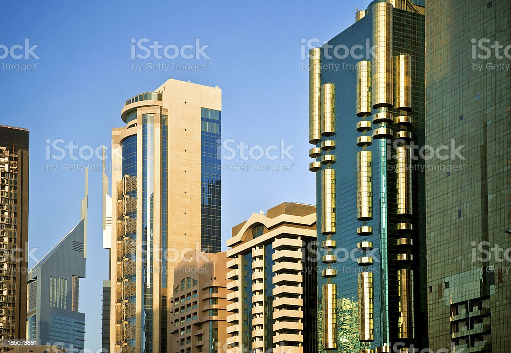 Business Towers in Dubai royalty-free stock photo