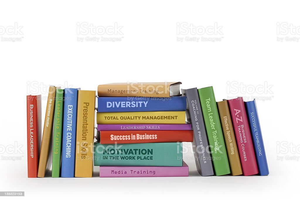 Business training books royalty-free stock photo