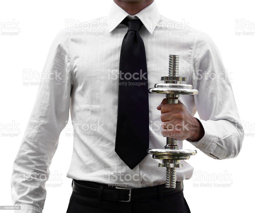 Business training (isolated on white) royalty-free stock photo