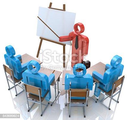 istock Business Training. Seminar concept 543689624