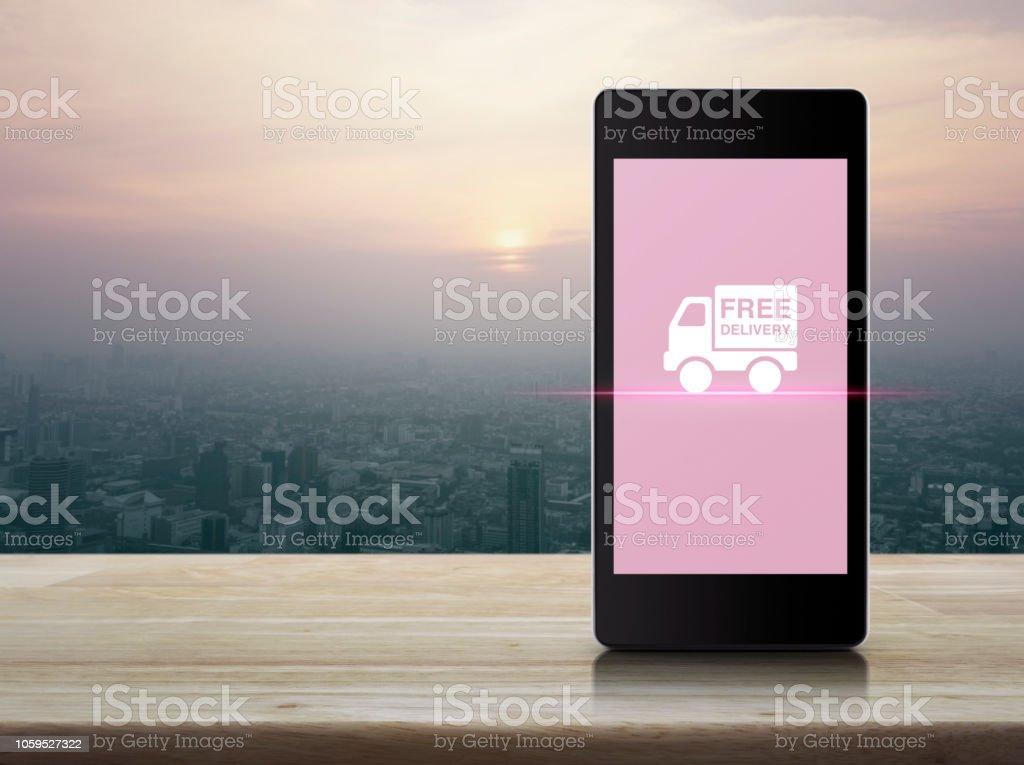 Business transportation online concept stock photo