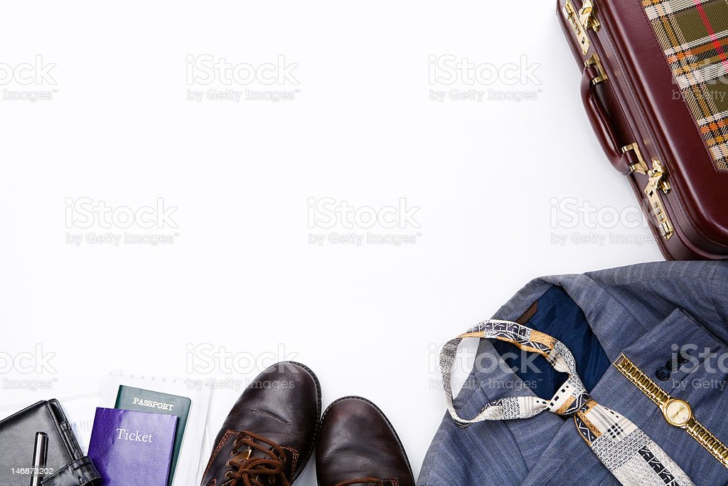 Business travel frame royalty-free stock photo