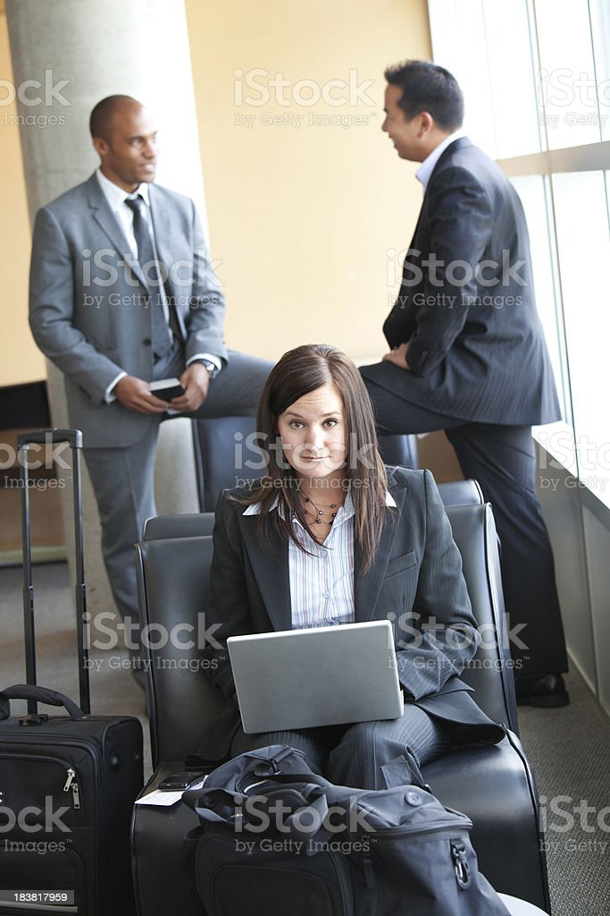 Business Travel Group royalty-free stock photo