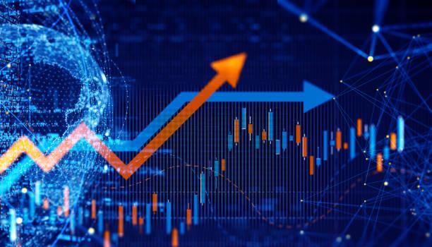 Business Trends Grafiken und Diagramme – Foto
