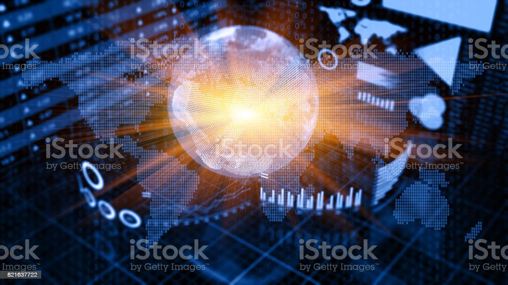 Business Trends Graphs and charts stock photo