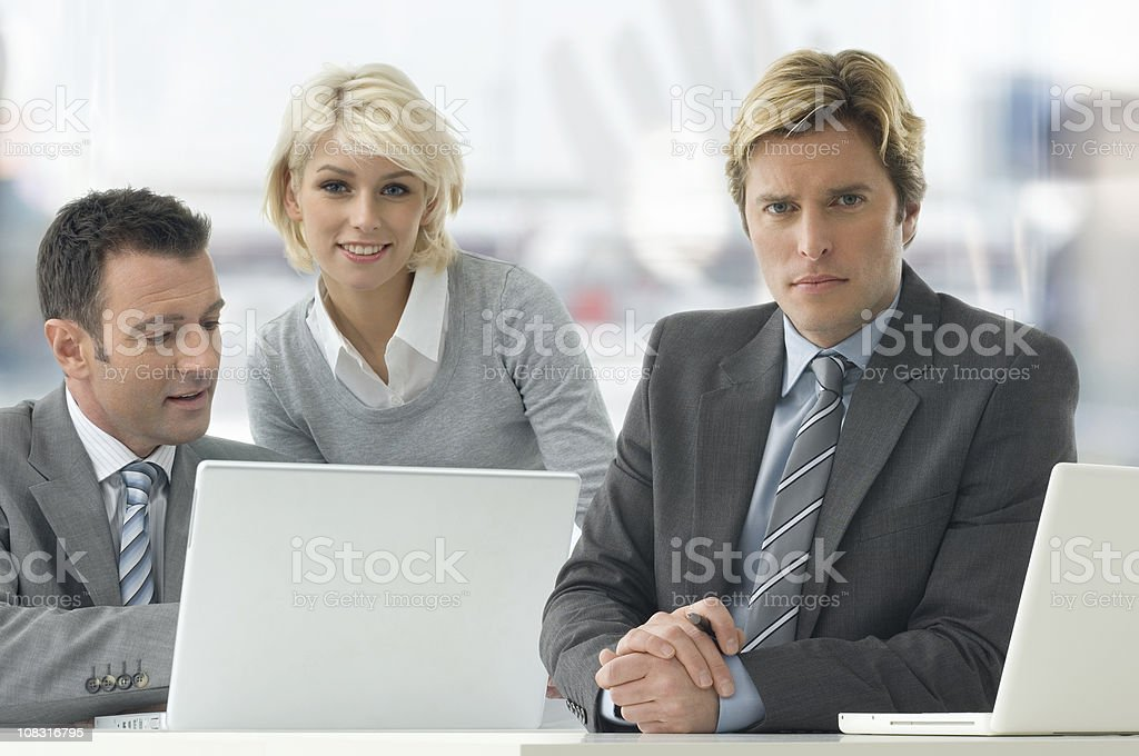 Business Trio royalty-free stock photo