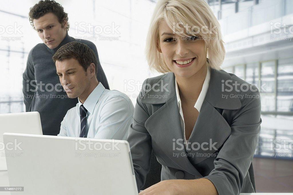 Business-trio - Lizenzfrei Anzug Stock-Foto