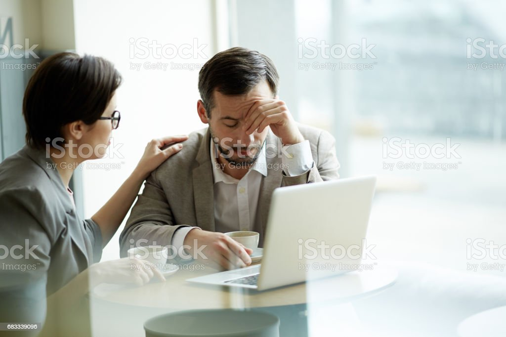 Business trouble stock photo