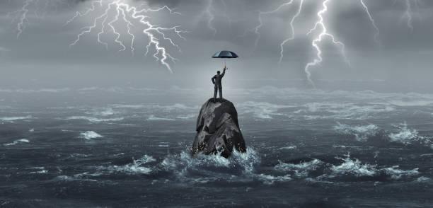 business umbrella - überleben stock-fotos und bilder