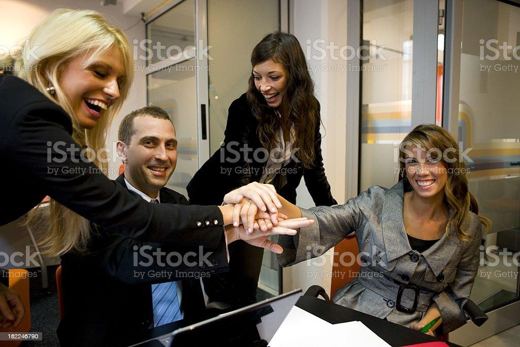 Business unity royalty-free stock photo