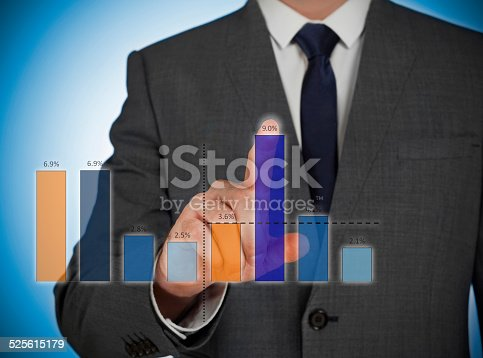 istock Business virtual graphic 525615179