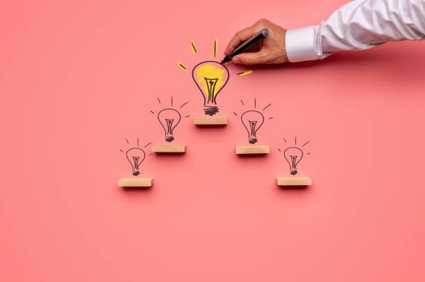 Business vision and idea concept stock photo