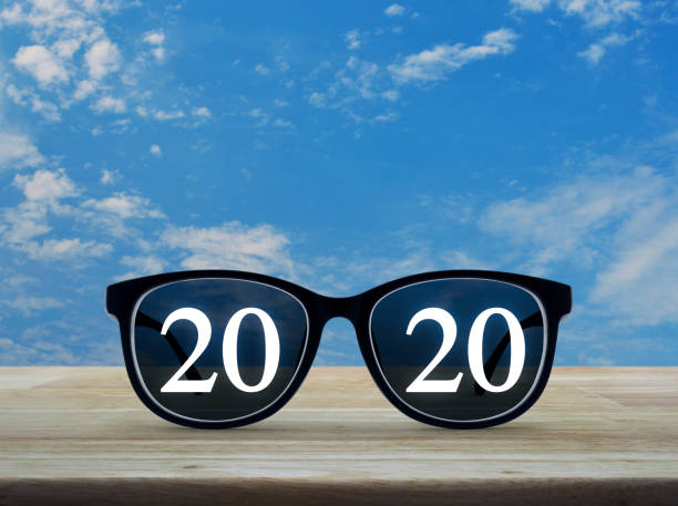 Business vision happy new year 2020 concept stock photo