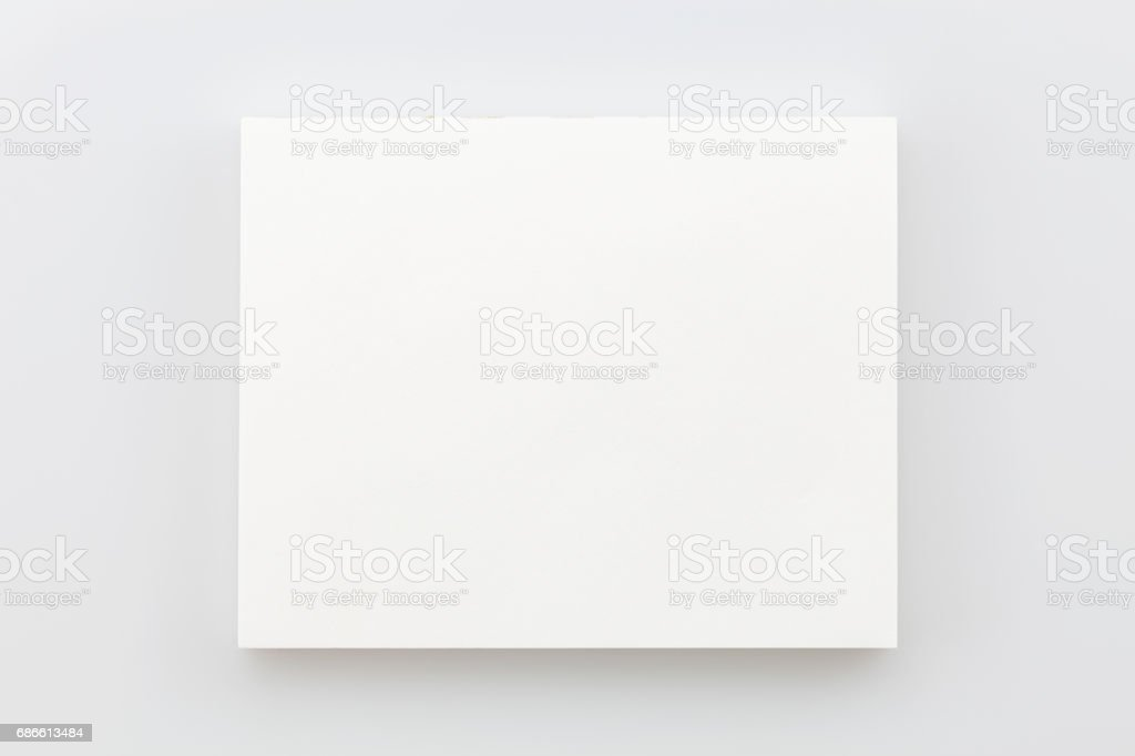 business white paper card on white. royalty-free stock photo