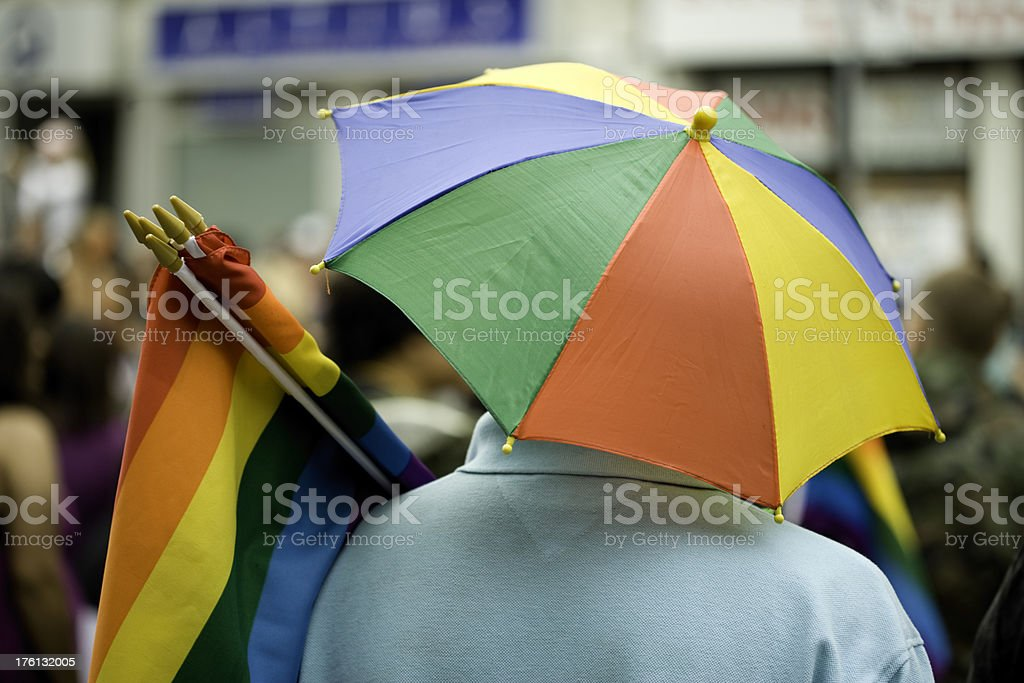 Business with gay pride flag royalty-free stock photo