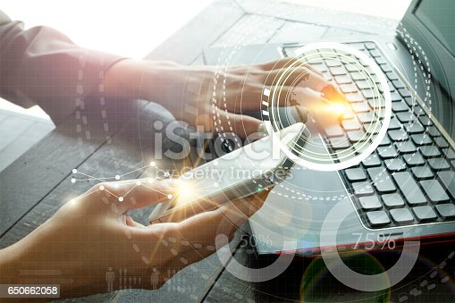 istock business with laptop connection technology interface 650662058