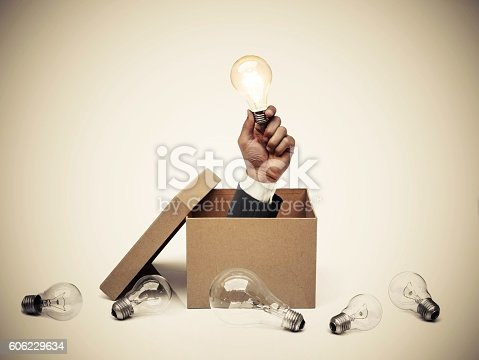 istock Business with new idea and innovation 606229634