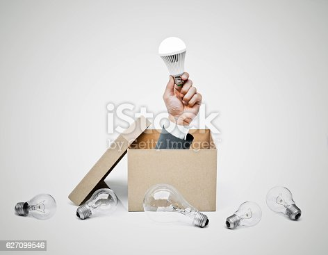 istock Business with new idea and innovation 627099546