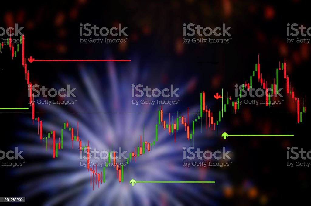 Business with stock chart - Royalty-free Backgrounds Stock Photo