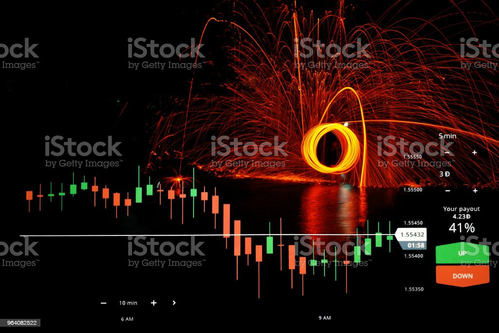 Business with stock chart - Royalty-free Bank - Financial Building Stock Photo
