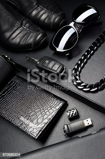 istock Business woman accessories 670995324