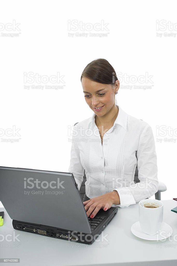 business-Frau mit laptop Lizenzfreies stock-foto