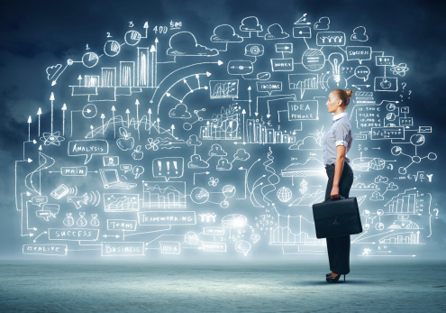 Business Woman And Project Stock Photo - Download Image Now