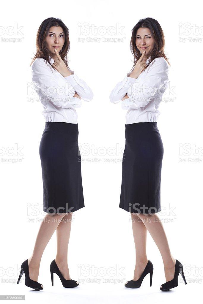 Business woman and secretary stock photo