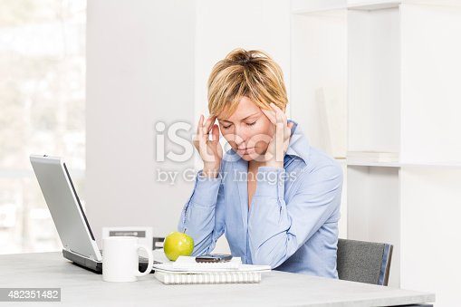 istock Business, woman and stress. 482351482