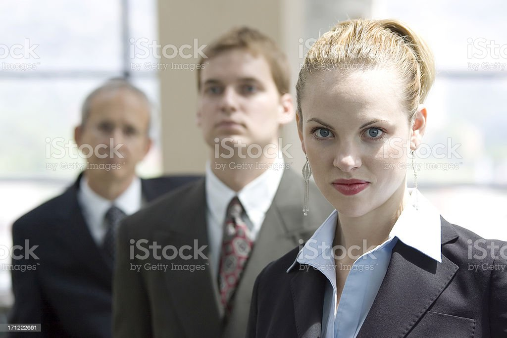 Business Woman and Team royalty-free stock photo